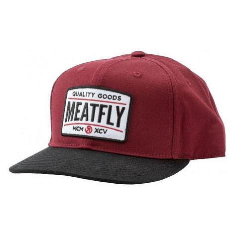 czapka z daszkiem Meatfly Arcade Snapback - B/Wine/Black