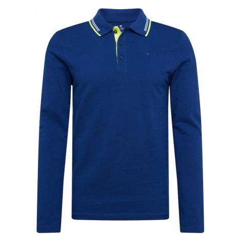 TOM TAILOR Koszulka niebieski / biały / neonowa zieleń