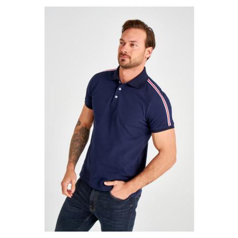 Trendyol Navy Men's Panel Polo Collar T-Shirt