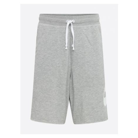 Nike Sportswear Spodnie nakrapiany szary / biały