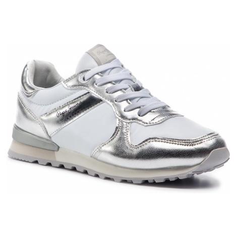 Sneakersy PEPE JEANS - Verona W Greek PLS30873 Silver 934