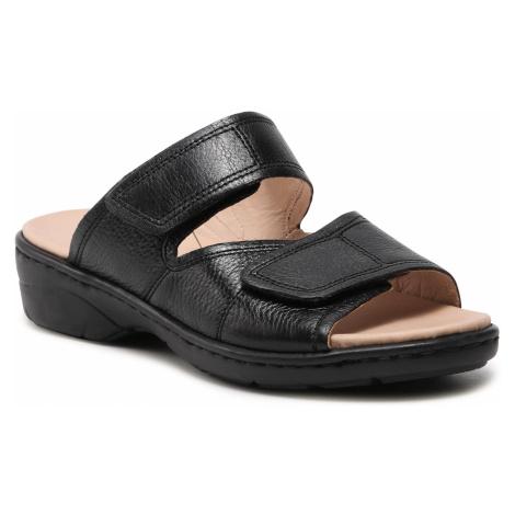 Klapki CAPRICE - 9-27252-26 Black Nappa 022