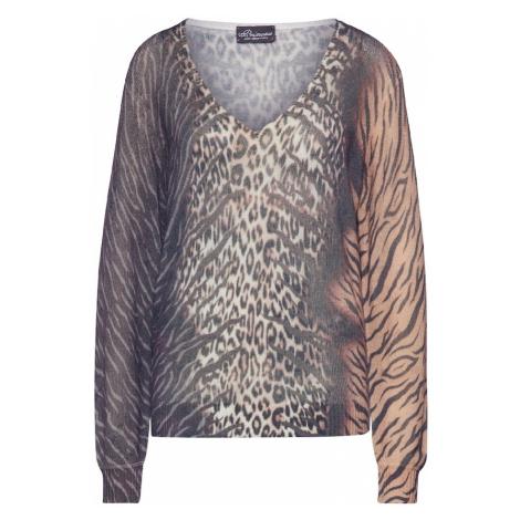 PRINCESS GOES HOLLYWOOD Sweter brązowy / czarny / beżowy