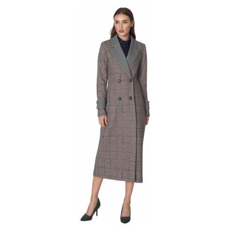 Dwurzędowy płaszcz we wzór Nife