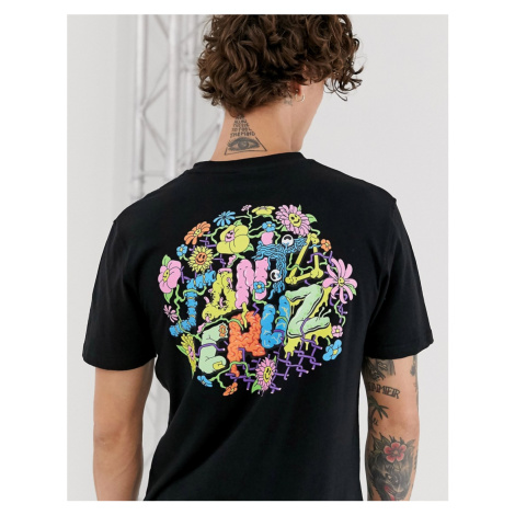 Santa Cruz Baked Dot t-shirt with back print in black