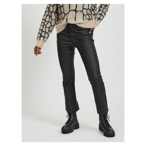 Czarne spodnie ze sztucznej skóry .OBJECT