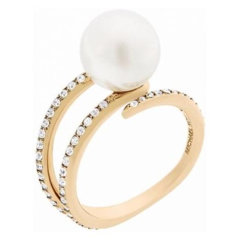 Michael Kors Kobiety pierścień z perełek i kryształów MKJ6313710 (obwód 57 mm)