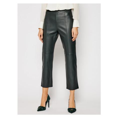 Weekend Max Mara Spodnie skórzane Ariella 54310117 Zielony Regular Fit
