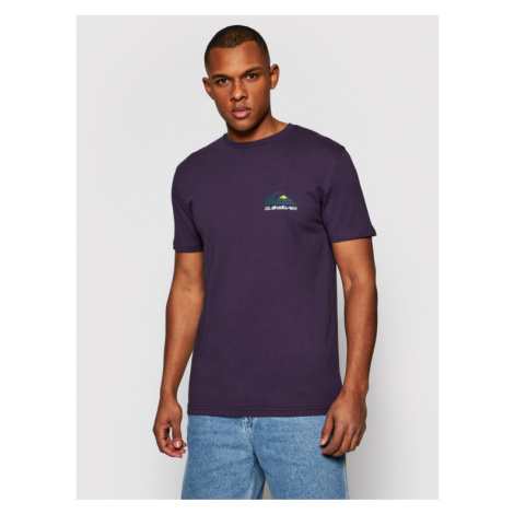 Quiksilver T-Shirt Reflect EQYZT06372 Fioletowy Regular Fit