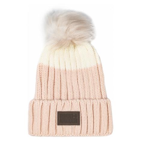 Czapka UNDER ARMOUR - Snowcrest Pom Beanie 1299905-675 Pink