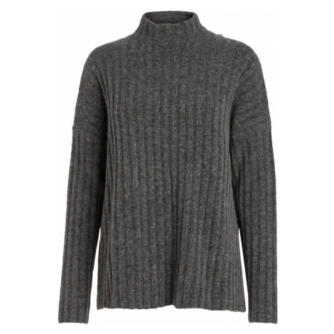 PIECES Sweter ciemnoszary