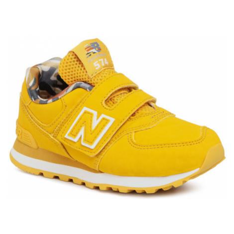 New Balance Sneakersy YV574GYY Żółty