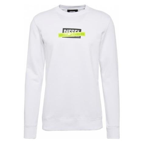 DIESEL Bluzka sportowa neonowo-żółty / czarny / biały