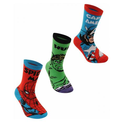 Marvel 3 Pack Crew Socks Junior