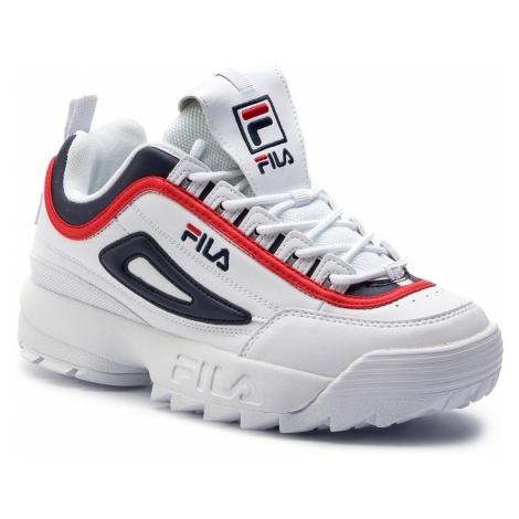 Sneakersy FILA - Disruptor Cb Low 1010575.01M White/Fila Navy/Fila Red