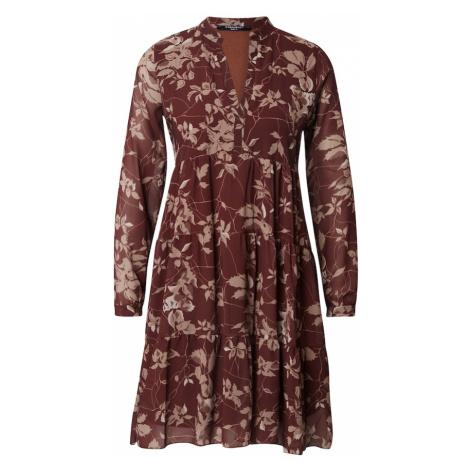 ZABAIONE Sukienka koszulowa 'Aurelia' miedziany / jasnobrązowy / biały