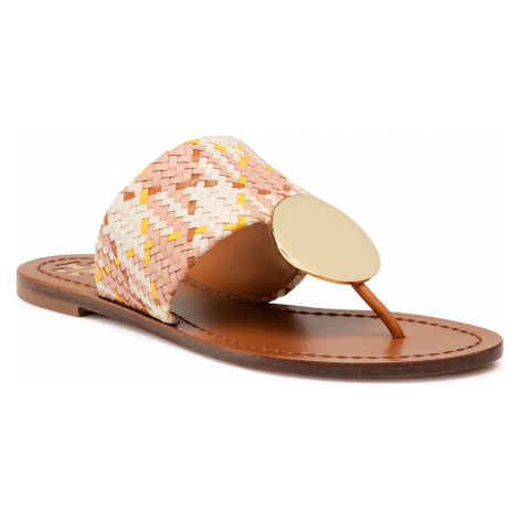 Japonki TORY BURCH - Patos Disk Sandal 74314 Woven/Neutral Woven 811