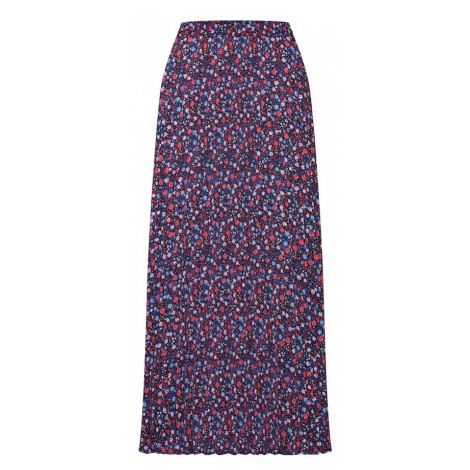 ONLY Spódnica 'onlPHOEBE LONG PLISSE SKIRT WVN' niebieski / różowy pudrowy / biały