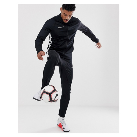 Nike Football academy tracksuit in black
