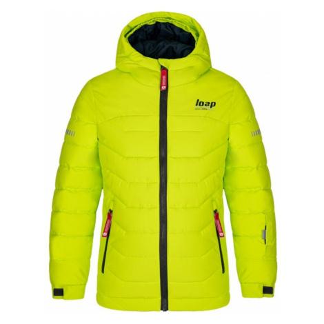 Neon zielony chłopiec kurtka zimowa LOAP Funko