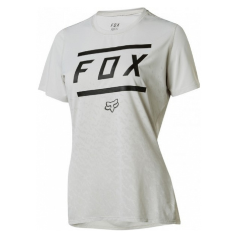 Fox W RIPLEY SS BARS szary L - Koszulka rowerowa damska