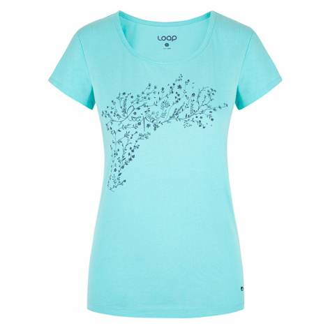 Damski turkusowy T-shirt LOAP Bacara