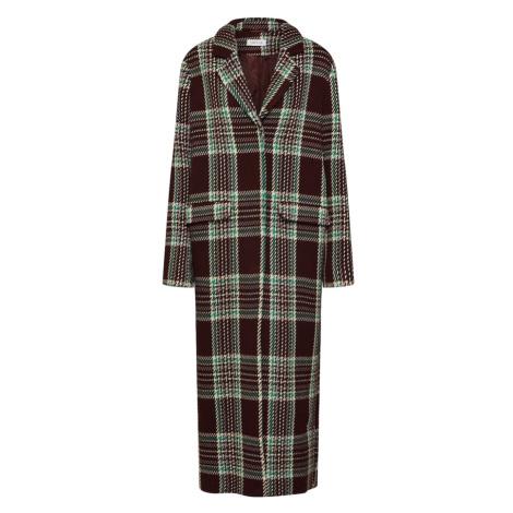 EDITED Płaszcz przejściowy 'Frida' kasztanowy / zielony / mieszane kolory / bordowy