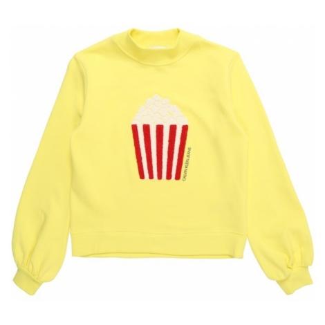 Calvin Klein Jeans Bluzka sportowa 'POPCORN TOWEL PRINT' żółty / czerwony / biały