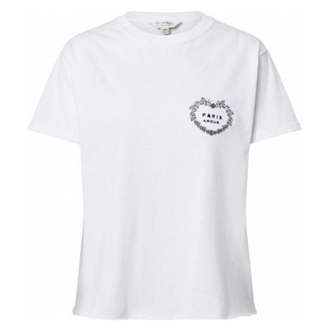 Miss Selfridge Koszulka biały / czarny / złoty