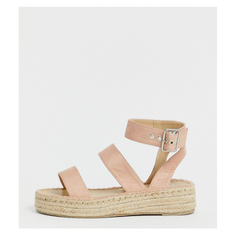 RAID Wide Fit Bellini blush espadrille sandals