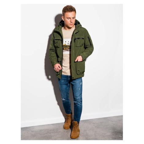 Ombre Clothing Men's winter quilted jacket C450