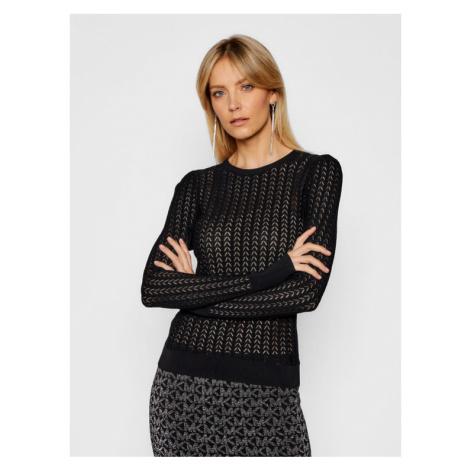 MICHAEL Michael Kors Sweter Crochet Knit MH06PHFBFD Czarny Regular Fit
