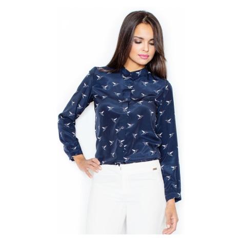 Figl Woman's Shirt M284 Navy Blue