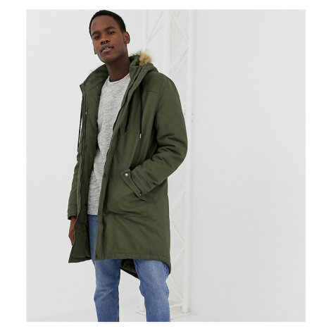 Another Influence TALL Faux Fur Hooded Fishtail Parka Jacket