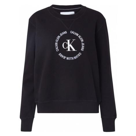 Calvin Klein Jeans Bluzka sportowa czarny / biały