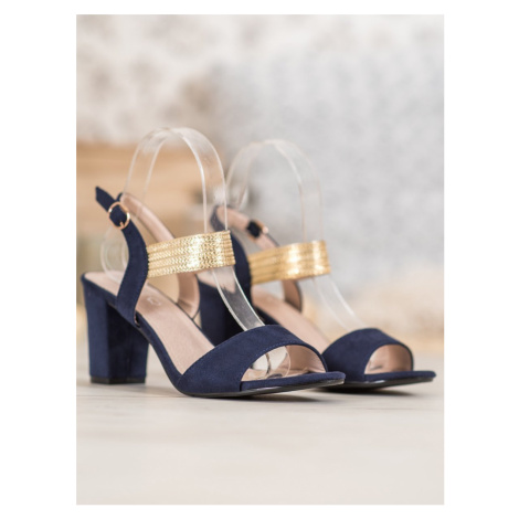 FILIPPO SANDALS WITH GOLD BELT