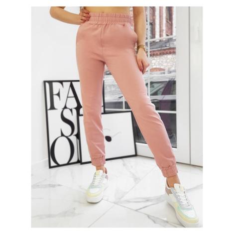 POZA damskie różowe spodnie UY0749 DStreet