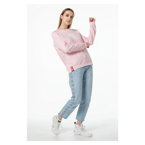 Bluza Alpha Industries New Basic Sweater Wmn 491 Pastel Pink