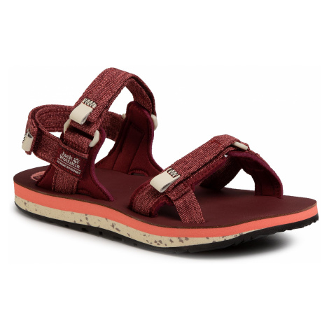 Sandały JACK WOLFSKIN - Outfresh Deluxe Sandal W 4039451 Carbernet/Champagne