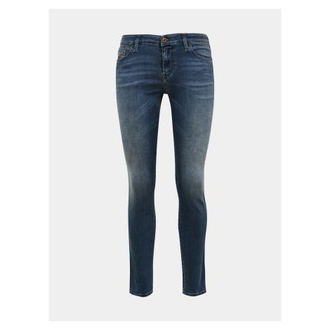 Niebieskie damskie jeansy skinny fit Diesel