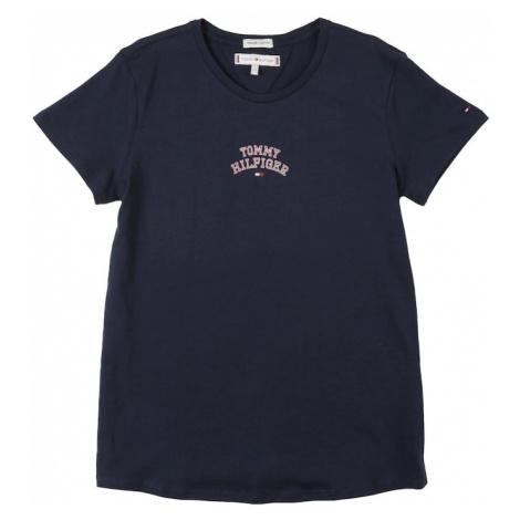 TOMMY HILFIGER Koszulka 'ESSENTIAL TOMMY NEW YORK S/S TEE' czarny