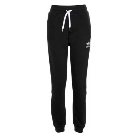 ADIDAS ORIGINALS Spodnie 'Trefoil' czarny / biały