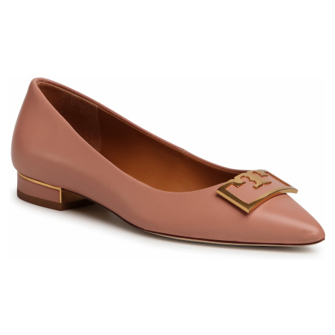 Półbuty TORY BURCH - Gigi 20mm Pointy Toe Flat 65187 Pink Moon 689