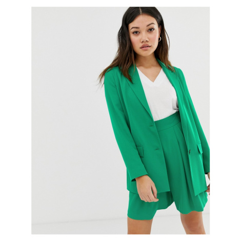 ASOS DESIGN pop green soft suit blazer