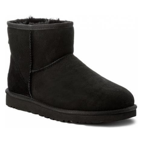 Czarna męskie obuwie na zimę