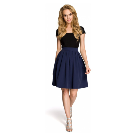 Made Of Emotion Woman's Skirt M237 Navy Blue