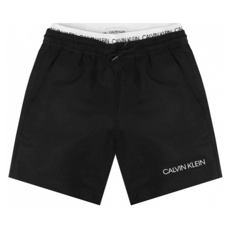 Calvin Klein Swimwear Szorty kąpielowe Medium Double Waistband B70B700231 Czarny Regular Fit