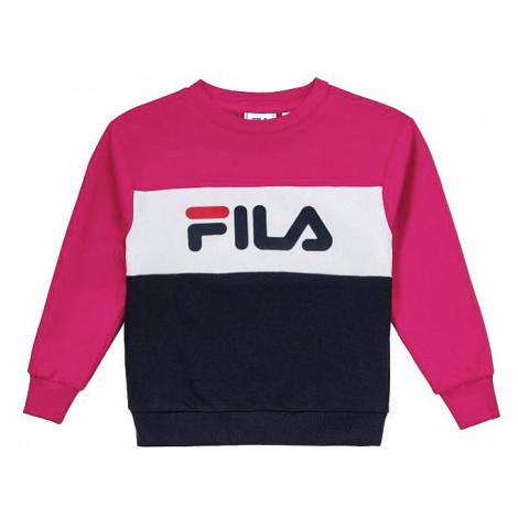 bluza Fila Night Blocked Crew - Pink Yarrow/Black Iris/Bright White