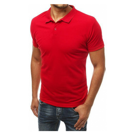 Men's red polo shirt PX0312