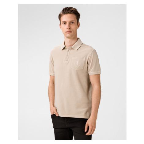 Trussardi Jeans Polo Koszulka Beżowy